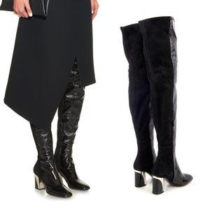Proenza Schouler Suede Leather OTK Tall Boots